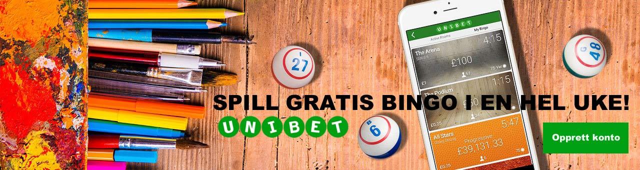 Spill gratis bingo hos Unibet i en hel uke