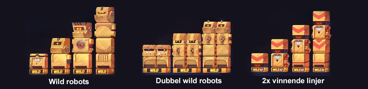 Robots fra spilleautomaten wild robots factory